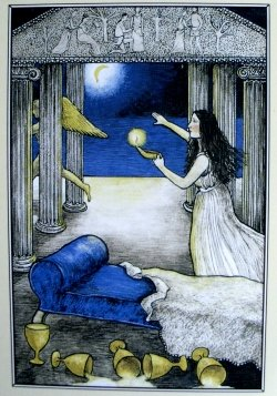 Psyche illuminates Eros - The Mythic Tarot