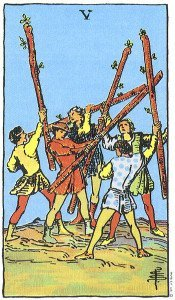 Five of Wands - Rider Waite