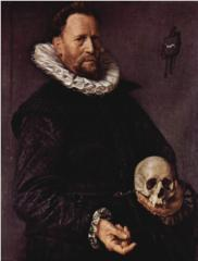 Full Moon Scorpio - portrait-of-a-man-holding-a-skull-1612