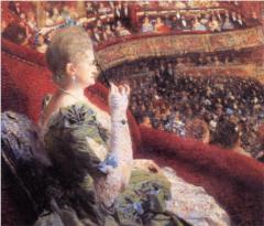 New Moon in Leo - madame-edmond-picard-in-her-box-at-theatre-de-la-monnaie