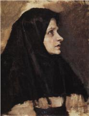 head-of-a-woman-in-black-shawl