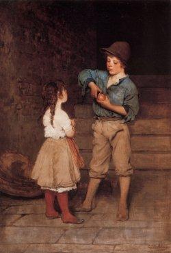 Eugene de Blaas - Two Children