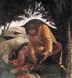 Sandro Botticelli - The Trials and Calling of Moses _detail 4_