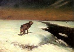 Alfred von Wierusz-Kowalski - The Wolf