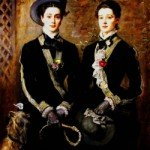 John Everett Millais - Twins _Grace and Kate Hoare_