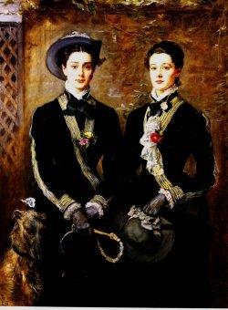 John Everett Millais - Twins _Grace and Kate Hoare_