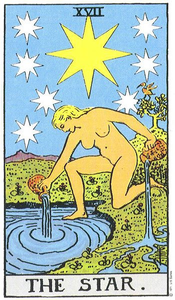 Image result for stars in tarot cards