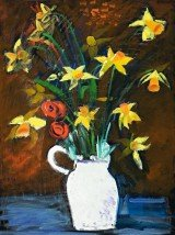 daffodils-in-a-white-vase-1985